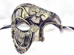 Unisex Mens Masquerade Mask Steampunk Metalic Half face Phantom Mask T. Perfect for Venetian, Carnival, Theater Play, Masquerade Wedding, Engagement, Halloween Costume Masquerade Party, Renaissance, Bachelor party, Mardi Gras Party, Prom and More! | eBay!