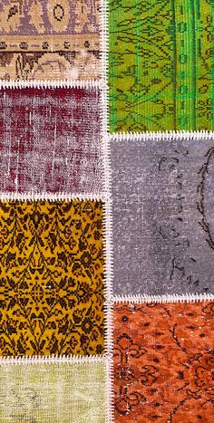 Vintage Patchwork Teppich - mozaiik Unikat Nr. 139TP Carpets, City Photo, Design, Scrappy Quilts, Vibrant Colors, Vintage Rugs, Handarbeit, Farmhouse Rugs, Rugs