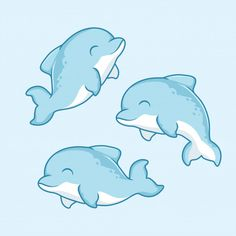 Discover thousands of Premium vectors available in AI and EPS formats Fish Cartoon Drawing, Dolphin Drawing, Cartoon Dolphin, Dolphin Painting, Dolphin Art, Cartoon Drawings Of Animals, Cute Animal Drawings Kawaii, Fish Drawings, Cartoon Cartoon