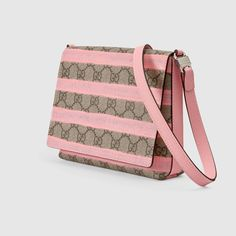 ed8018a1aa4 Gucci Children - Children s GG stripe messenger - 410815KXE3N9760 Girls  Accessories, Kids Girls, Girl