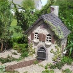 Miniature Fairy Garden Ivy House NEW RELEASE Fairy Cottage Fairy Home by corinne
