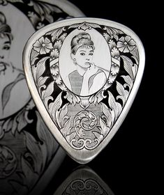 Audrey Hepburn Guitar Pick by #AndrosCreations on #Etsy, #BreakfastAtTiffanys