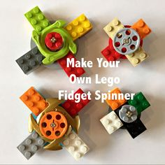 How To Make Your Own Lego Fidget Spinner | Kids Do STEM
