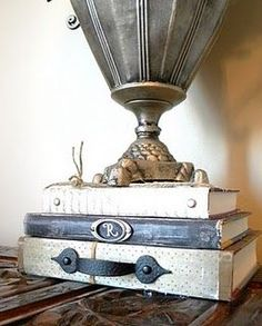 Create your own vintage books for some really awesome home decor.