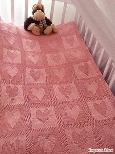 Diy Crafts - Baby Blanket PATTERN written instructions with diagram. Baby Knitting Patterns, Tapestry Crochet Patterns, Crochet Bedspread, Baby Patterns, Knitted Baby Blankets, Baby Blanket Crochet, Diy Crafts Knitting, Manta Crochet, Checkerboard Pattern