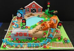 thomas the train cake | ... .. Cupcakes fit for divines!: Thomas the train & Joel Fondant cake