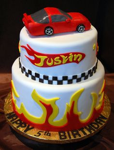 Hot Wheels Birthday Cake by Gold Leaf Confections, via Flickr