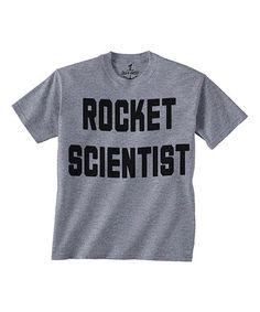 Gray 'Rocket Scientist' Tee - Toddler & Boys #zulily #zulilyfinds