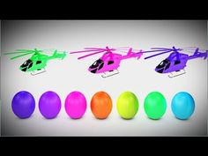 Learn colours with Surprise Eggs and Helicopters for Kids 60 Mins Kids L...