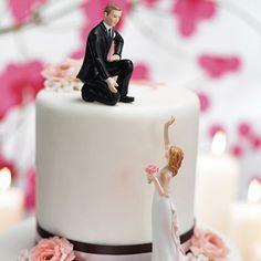 画像1: ウエディングケーキ飾り/手を差し伸べるカップル