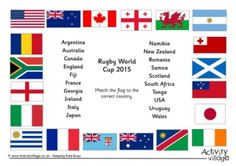 Rugby World Cup 2015 Match The Flags Worksheet