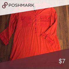3/4 sleeve top Red-orange 3/4 sleeve top. Super soft. Tops
