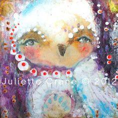 Owl Art Print With Gratitude Hope Grows8x8 inch by juliettecrane, $25.00