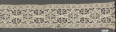 Late 16th c. Italian bobbin lace (112 x 4 in.) - Met Museum 35.108.10