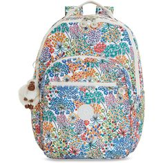 ea63b429104 Kipling Seoul Large Printed Laptop Backpack (€67) ❤ liked on Polyvore  featuring bags