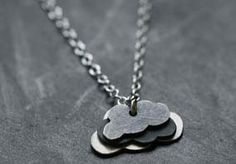 This rain cloud necklace would brighten my day every time I wear it.