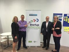 June IBEC's Sharon Higgins in the offices to discuss collaboration opportunities for the Startup Gathering