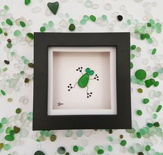 Sea glass art frog pebble art sea glass frog nursery decor unique gift for mom birthday gift for her anniversary gift for mum framed art. Stunning and original sea glass frog, this sea glass art piece comes in a cute little frame - part of the miniature frame collection. This home decor