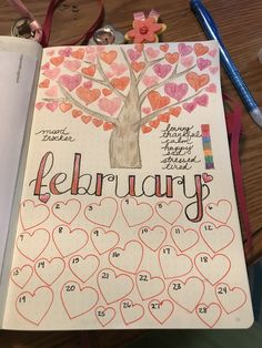 February mood tracker #bulletjournaljunkies