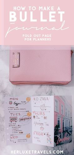 DIY bullet journal | How to make your own bullet journal planner pages for your personal planner | Her Luxe Travels #bulletjournal #bulletjournalcommunity