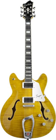 Versatile tone, incredible playability, and sleek looks have powered the Hagstrom Viking to its commanding position in the in the semi-hollow body guitar world. The Super Viking continues in the Vikin