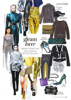 Featured in InStyle Magazine's 'Gleam Lover' edit from the October 2013 issue, our Special Clutch Bag with mock croc hologram finish.