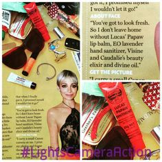 Check out what is In Nicole Richie's Bag this week in US Magazine. Lucas Papaw's!!! She uses it as a lip balm but this product is magic! Great for cuts, dry and cracked skin, burns, chaffing, insect bites etc. It is a more natural version of Neosporin with faster healing powers. Everyone needs Lucas Papaws in their life. Thanks Nicole for loving this product. We do too! #LightsCameraAction #NoFilterMakeUp #CrueltyFree #SkinCare #NonToxic  #Cosmetics #LimeLightByAlcone #NaturalSkinCare