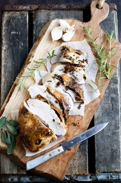 Bacon and herb roasted turkey breast