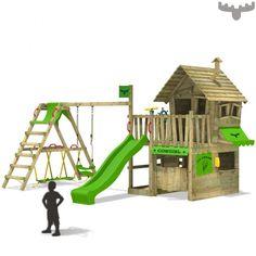 Spielturm mit Schaukel und Rutsche CountryCow Maxi  Apfel 810868