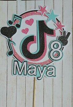 Happy Birthday Name, Cute Birthday Cards, Personalized Birthday Cards, Personalized Cake Toppers, Fall Birthday, Custom Cake Toppers, 10th Birthday, Photo Banner, Family Birthdays