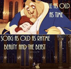 Beauty and the beast---this song is stuck in my head now lol