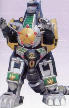 The greatest of all toys of my childhood, the Dragonzord from the Mighty Morphin Power Rangers