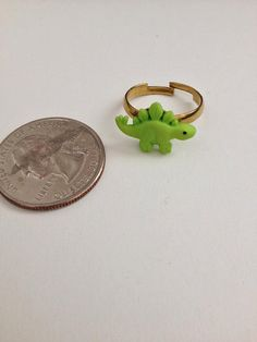 Mini Green Dinosaur Ring by LifeCouldBeSweet on Etsy