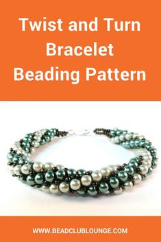 The Twist and Turn bracelet pattern would is a Tubular Herringbone Stitch beading tutorial that includes step-by-step instructions in English accompanied by close-up pictures. This jewelry pattern is great for beaders with an intermediate skill level. If you've been interested in beadweaving and learning how to make a beautiful bracelet in any color combination to suit your style, this is the bracelet pattern for you. #beading #beadwork #jewelrymaking #jewelrytutorial #tutorials #patterns