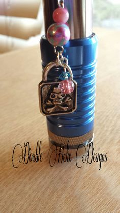 Skull Lock ecig charm by DoubleHelixDesigns on Etsy, $6.99