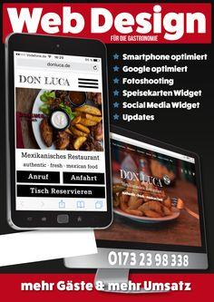 www.push2hit.de Webdesign für Restaurants und Gastronomie