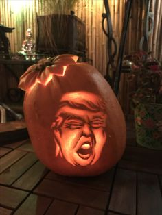 Scariest ever! Donald Pumpkin.
