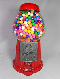 Vintage-Gum-Ball-Carousel-Industries-1980s-Glass-Globe-15-Tall-Great-Condition