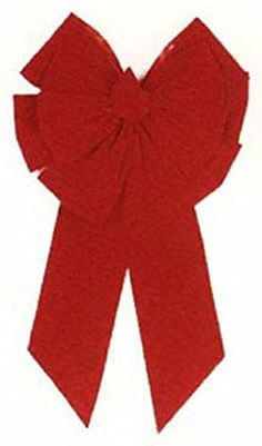HOLIDAY TRIM 7366 11 Loop Velvet Bow for Decoration, Red > For more information, visit now : Wrapping Ideas