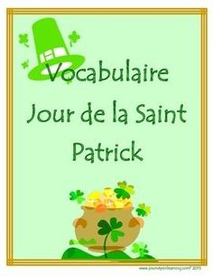 "A great way for your students to get excited about St. Patrick's Day in French!Includes:- a vocabulary match sheet with answers- a word search with answers- a vocabulary sheet ( a white background one included)- an alphabetical order/sentence writing sheet  ( a white background one included)- a word make sheet using the words ""La Saint Patrick"""