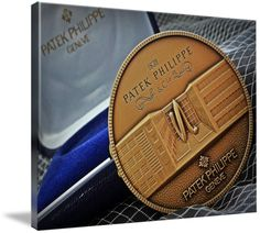 "Patek Philippe Geneve Commemorative Medal Coin $246 // Style: Soft Edge Canvas Print; Size: Grande 36"" x 48"" // Visit http://www.imagekind.com/Patek-Philippe-Geneve-PPG_art?IMID=1f63993e-3b0d-4b44-8521-e4fef1f8974d for product details."