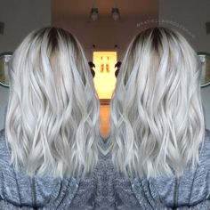 White blonde // platinum balayage // ice blonde // katieclairedoeshair