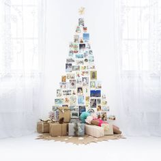 photo montage as Christmas Tree