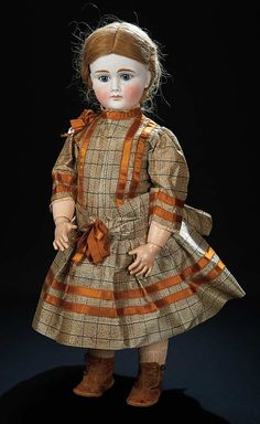 Let the Music Begin!: 114 Very Beautiful Sonneberg Bisque Closed Mouth Doll with Silk Costume