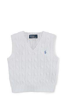 Ralph Lauren Childrenswear Classic Cable Knit Sweater Vest