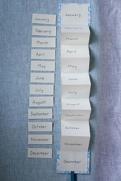 Months of the year!