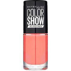 Maybelline Maybelline Nail Color Show Coral Craze 342 ($7.03) ❤ liked on Polyvore featuring beauty products, nail care, nail polish, beauty, maybelline nail polish, maybelline and maybelline nail color