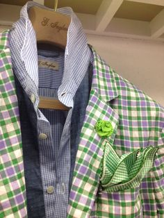 green plaid...I've never seen anything like this...not sure if I could pull this off