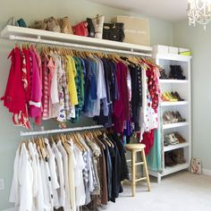 Best Closet Organization Diy Walk In Wardrobes 63 Ideas Spare Bedroom Closets, Dream Closets, Spare Room, Diy Bedroom, Open Closets, Extra Bedroom, Apartment Closet Organization, Diy Organization, Dressing Room Closet