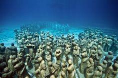 the underwater museum, isla mujeres, mexico